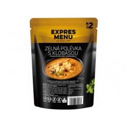 Expres menu Polévka zelná s klobásou 600g (2porce)